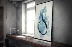 New to AdriLunaStudio on Etsy: Watercolor Art Print - Abstract Painting Print - Giclee Print - Blue Watercolor Painting - Housewarming Gift - Gift for Her - Blue Abstract (14.99 USD)