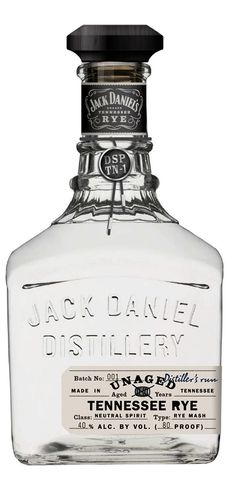 Jack Daniel's Unaged Rye Whiskey - Are white whiskeys suddenly the cool thing to do? I feel like I never saw them before a month ago and now they're everywhere (cool drinks design) Rye Whiskey, Scotch Whiskey, Jack Daniels Whiskey, Moonshine Whiskey, Fun Drinks, Alcoholic Drinks, Beverages, Vodka, Barris