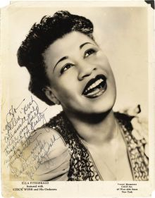 "Ella Fitzgerald. I think she will always be a wonderful obsession of mine.  ""She is amazingly creative, bringing so much more to a song than just a singer. She is a first-class musician and the most gracious person in the world."" -- Marty Paich ( pianist, composer, arranger, producer, music director and conductor)"