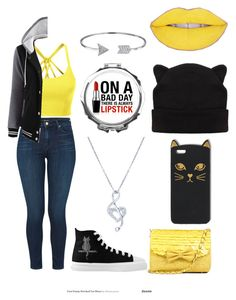 """""""Bold Lipstick"""" by janerisgaard on Polyvore featuring LE3NO, J Brand, BERRICLE and Bling Jewelry"""