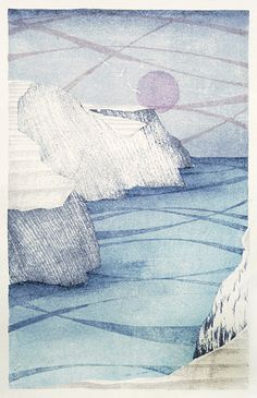 Freshwater January - Japanese waterbased woodblock - Laura Boswell