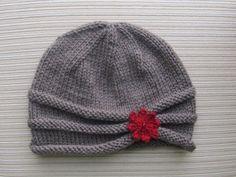 Knitting Pattern Rolled Brim Hat in Size Adult - Baby Mütze Stricken Baby Knitting Patterns, Free Knitting, Crochet Patterns, Knitting Needles, Knit Crochet, Crochet Hats, How To Purl Knit, Brim Hat, Sewing Basics