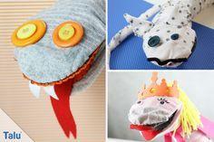 Handpuppen selber machen – Puppen/Tiere aus Socken basteln