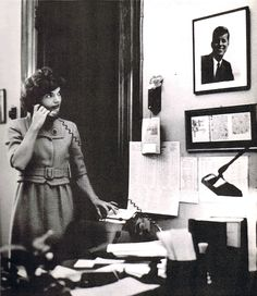 In Jack's Senate office during the 1950's.