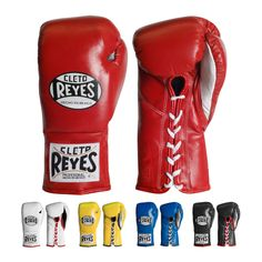 Cleto Reyes Official Fight Boxing Gloves - The most recognized professional fight glove in the game with a fit that conforms to your hand like an extra set of knuckles.Comfortable, sleek Mexican design.Goatskin leather with water-resistant nylon lining.Authorized by WBC, WBA, Athletic State Commission of California, USA Mexico City Boxing and Wrestling Commission, Mexico.