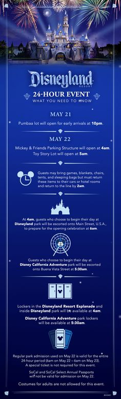 Here's What You Need to Know to Line Up for the Disneyland Resort Diamond Celebration 24-Hour Event!