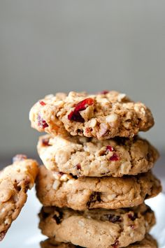 Maple cranberry nut cookies