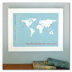 The globetrotter personalised print - hardtofind.