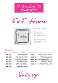 Spirit Frame for Thirty-One Consultant