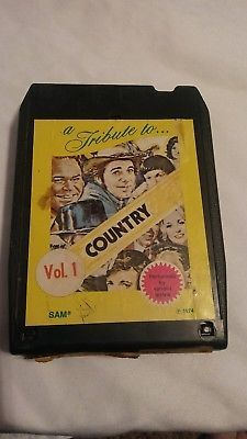 vtg 8 track tape a tribute to country vol 1 collectible prop 😊