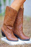 Thatta Cowgirl Boots: Cognac