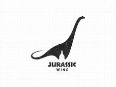Jurassic Wine #Logo Design