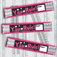 You Rule Valentine classroom Valentines ruler valentine Birthday Party Menu, Birthday Favors, Valentines Diy, Happy Valentines Day, Valentine Cards, Employee Gifts, Learning Time, Gifts For Boss, Chalkboard Signs