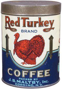 Red Turkey Brand Coffee Tin