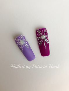 Winter Nailart Matte Gele