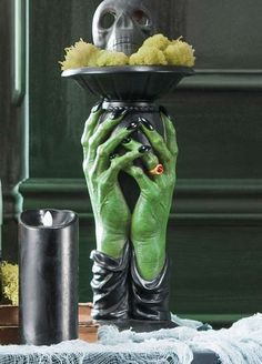 Hauntingly display candles this Halloween with the incredibly detailed Wicked Candle Holder.