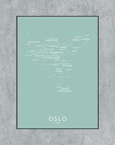 NØR lager nydelige plakater av norske byer og bydeler.