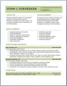 resume professional format
