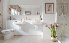 White Bathroom Spaces - Interior Design Photos | Live Love in the Home