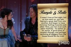 My relationship is like Rumple and Belle from 'Once Upon a Time'! How about yours?