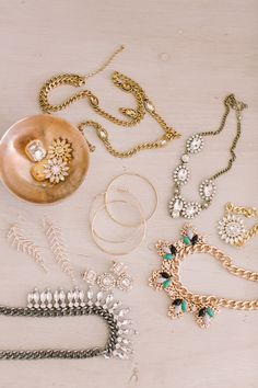 so many pretty pieces from the SMP + BaubleBar collaboration #jewelry Photography: Ruth Eileen - rutheileenphotography.com