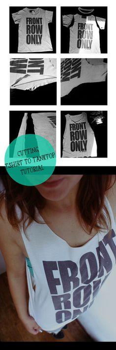 Cutting T-shirt to Tanktop tutorial #DIY #Tshirt #Cutting