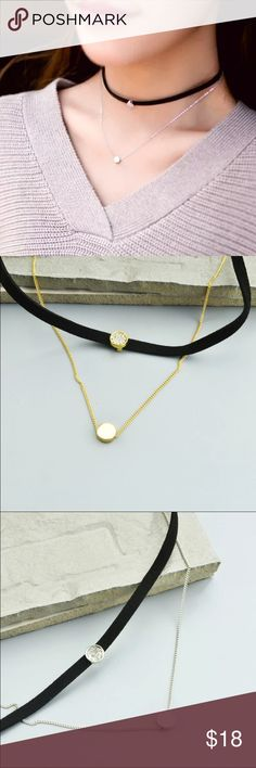 Two layer leather choker Available in gold and silver color. Bundle and save! Get 15% off when you buy 3 items! Jewelry Necklaces