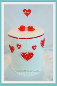 Cute cake from @My cake school!