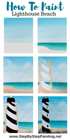 Lighthouse Beach Painting Step By Step Ice climbing waters trip ships kayaking Easy Canvas Art, Simple Canvas Paintings, Easy Canvas Painting, Diy Painting, Easy Art, Canvas Crafts, How To Paint Canvas, Easy Acrylic Paintings, Cute Easy Paintings
