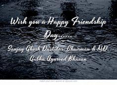 Wish you a Happy Friendship Day......