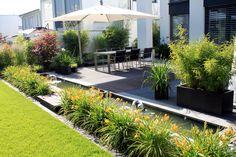 Geradlinige Gärten no. 8 - Nadine Erler - New Ideas Rooftop Garden, Garden Pool, Balcony Garden, Water Garden, Amazing Gardens, Beautiful Gardens, Dream Garden, Home And Garden, Landscape Design