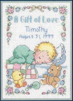 a gift of love birth sampler..