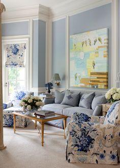 Grey and Light Blue Living Room. 20 Grey and Light Blue Living Room. Love This Light Blue Living Room Coastal Living Rooms, Home Living Room, Living Room Decor, French Living Rooms, Bedroom Decor, Blue Bedroom, Kitchen Living, Bedroom Furniture, Kitchen Decor