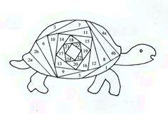 Turtle template for Iris Folding