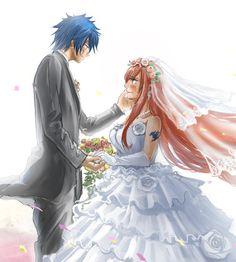 this is so amazing #jerzawedding Fairy Tail Family, Fairy Tail Love, Fairy Tail Art, Fairy Tail Couples, Fairy Tail Ships, Fairy Tail Anime, Fairy Tales, Erza Y Jellal, Fairy Tail Jellal