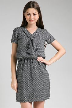 ELISE shirtdress with tie & bow AR15060507