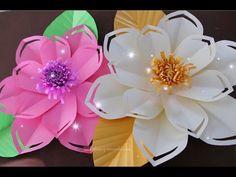 Paper Flower Decor, Flower Crafts, Flower Art, Paper Flowers, Paper Art, Paper Crafts, Mini Roses, Flower Template, Big Flowers