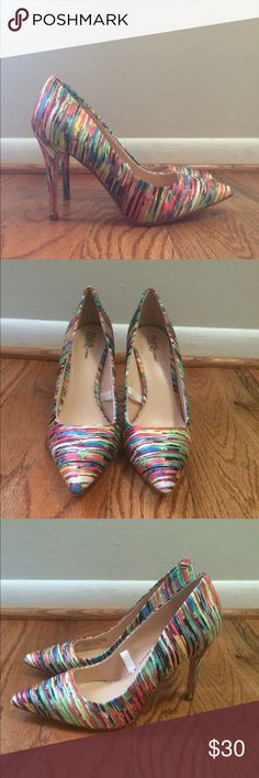 Prabal Gurung for Target Multi-Color Heels Gorgeous multi-color Prabal Gurung for Target Heels. 4 inch heel Prabal Gurung for Target Shoes Heels