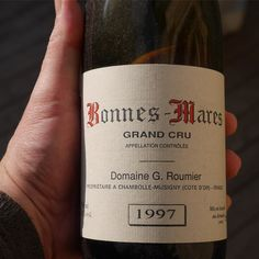 When old friends visit old wine is opened! This one a gift from Christophe Roumier. Along with Musigny Bonnes-Mares is one of the two great Grand Crus of Chambolle-Musigny. #pinot #drinkit #grandcru #chambollemusigny #burgundy #roumier