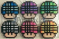 I think these look cute! I didn't come up with the designs for these, however I did make the perlers as shown.(Idid changed the colors from the original pattern though.)Full credi...
