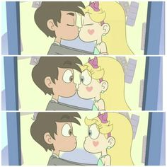 I know some people say they don't want Starco to happen but come on it was pretty much canon on the blood moon ball episode Cute Couple Cartoon, Cute Cartoon, Star E Marco, Starco Comics, Princess Star, Star Force, Star Butterfly, Cartoon Shows, Star Vs The Forces Of Evil