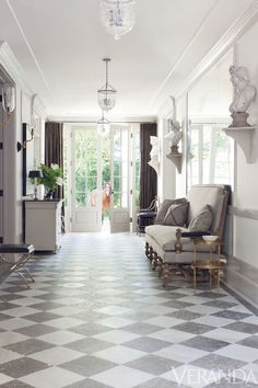 marble floors & french doors | windsor smith