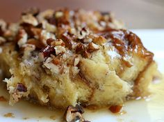 Pecan Overnight French Toast Casserole. For Christmas morning for sure