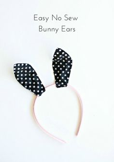 Make these cute no-sew fabric bunny ears in just 5 minutes!