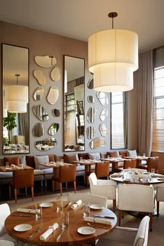 Bianca Italian Restaurant at the Delano Hotel Miami Beach - Simple Elegant Design designed by Sam Robin and time