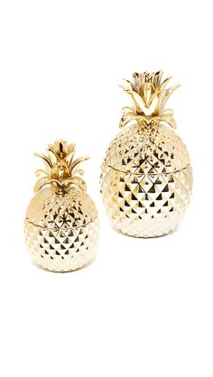 Find Gift Boutique Golden Hospitality Set Of 2 Pineapple Jars Only at Modalist