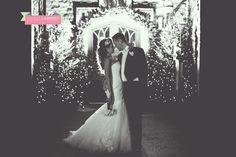 ©Rachel Lambert Photography  Miskin Manor winter Christmas wedding  bride and groom portrait  off camera flash
