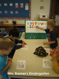 Mrs. Bremer's Kindergarten: alphabet activities