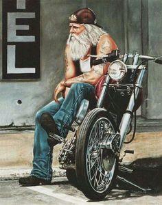 Harley Davidson- looks like a David Mann Art Harley Davidson, Harley Davidson Motorcycles, Custom Motorcycles, Custom Choppers, Triumph Motorcycles, Vintage Motorcycles, Custom Bikes, Motorcycle Art, Bike Art