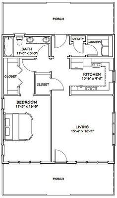 28x32 House -- #28X32H1 -- 895 sq ft - Excellent Floor Plans